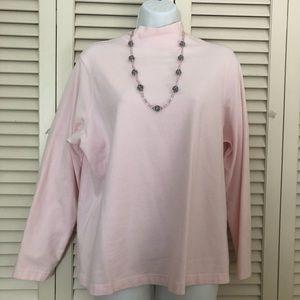 Croft & Barrow pretty pink mock neck shirt